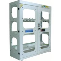 High visibility toolholders cabinet  ALL-EASY-20 with electronic open - dimensions W=1200 D=450 H=1600