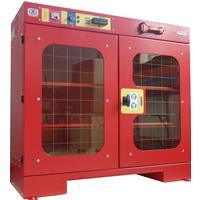 High visibility toolholders cabinet  ALL-EASY-10 with electronic open - dimensions W=1200 D=450 H=1000