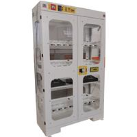 High visibility toolholders cabinet  ALL-EASY-35 with electronic open - dimensions W=1200 D=450 H=2000